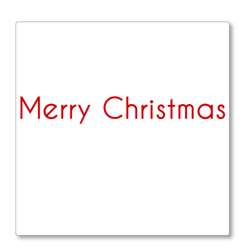This 'Merry Christmas' greeting will look great on your wall! Designed to be sleek and modern this vinyl decal is shown in red.