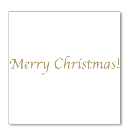 Our classic 'Merry Christmas' vinyl wall decal looks great on its own or as part of a feature wall. Shown here in gold.