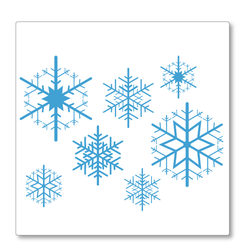 Let it snow! This versatile vinyl snowflakes decal will make any wall or window look great this Christmas. Shown here in blue.