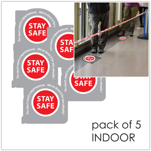 social distancing floor sticker for hard floors, pack of 5, tape measure Self-adhesive Corona virus floor sticker to help social distancing.