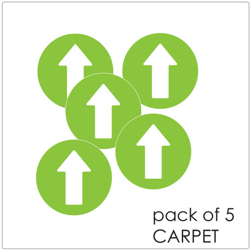 directional arrow social distancing floor sticker for carpet, pack of 5 Self-adhesive Corona virus floor sticker to help social distancing.