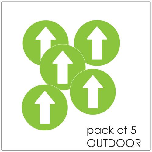 directional arrow  floor sticker for outdoor floors, pack of 5 Self-adhesive Corona virus floor sticker to help social distancing.