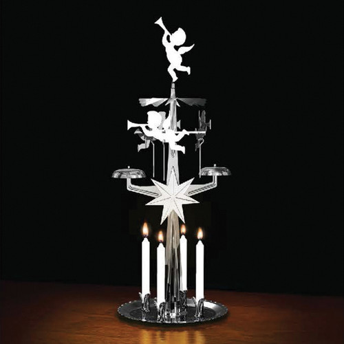 Angel Chimes-Silver Plated with 4x Candles