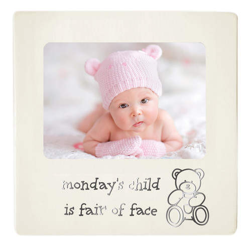 Baby Photo Frame - Monday's Child