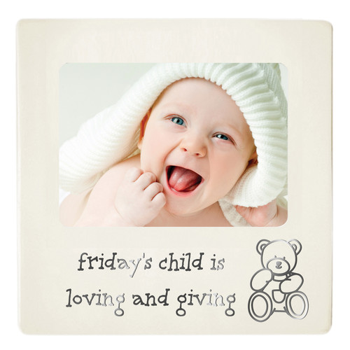 Baby Photo Frame - Friday's Child