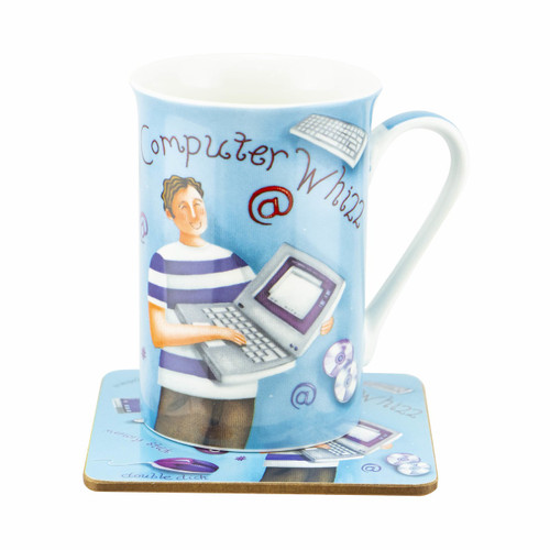 Colours Computer Whizz Mug & Coaster