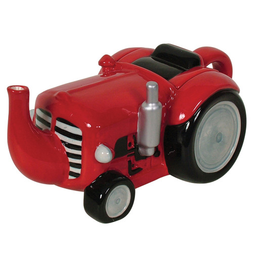 Tractor Teapot Red