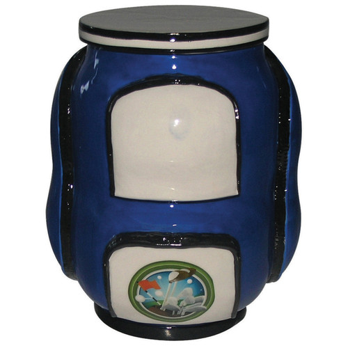 Golf Bag Cookie Jar- Blue
