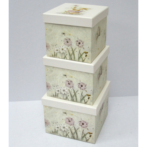 Square Nested Gift Boxes 3pc