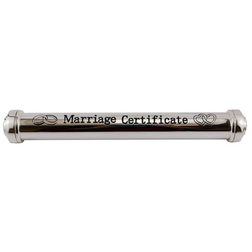 Marriage Certificate Holder - Silver