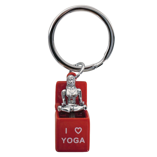 Yoga in the Box Keyring