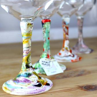 Ceramic-Goblets-handcraft--from-Italy