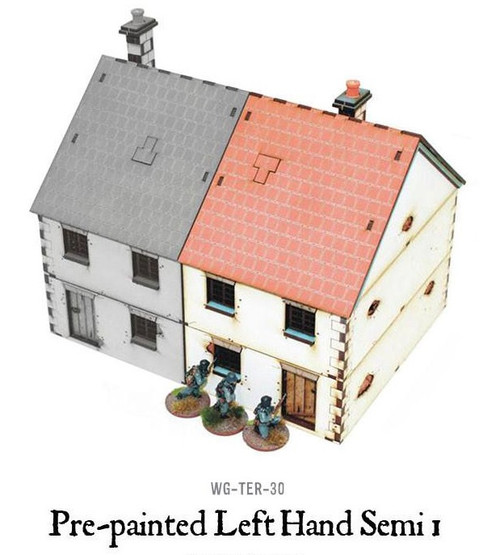 Pre-painted Left Hand Semi-Detached House