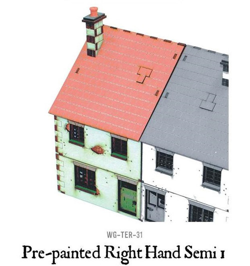 Pre-painted Right Hand Semi-Detached House