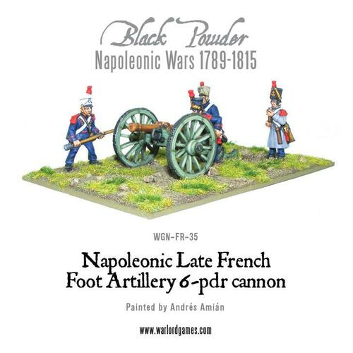 French 6 pounder Foot Artillery - WGN-FR-35