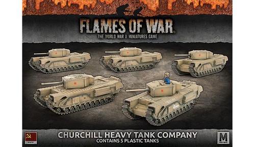 CHURCHILL HEAVY TANK COMPANY (x5 plastic tanks) - SBX56