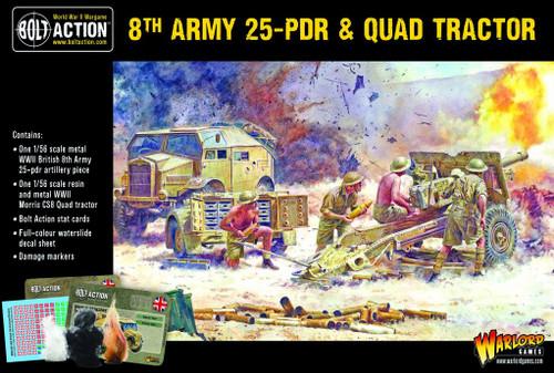 8th Army 25 pounder Light Artillery, Quad & Limber - 402211001