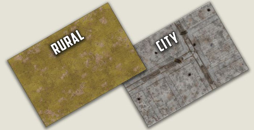 City & Rural Double Sided Gaming Mat - BB956