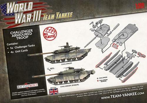 Team Yankee British Challenger Armoured Troop - TBBX11