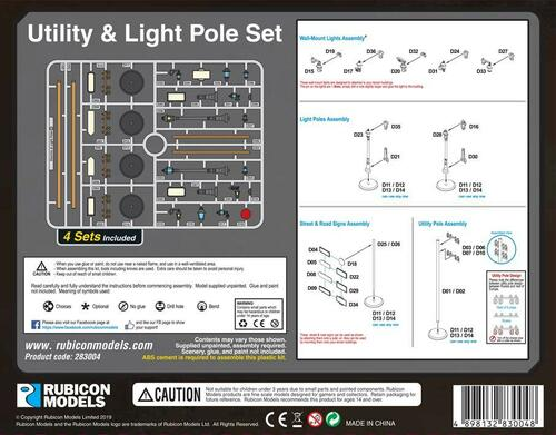 Utility & Light Pole Set - 283004