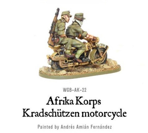 Afrika Korps Kradschutzen Motorcycle - WGB-AK-22