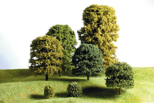 18mm Green Deciduous Trees 12 Pack - DG100