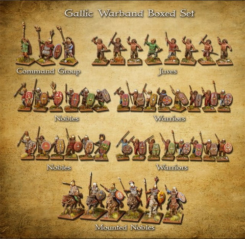 Clash of Spears Gallic Warband Boxed Set