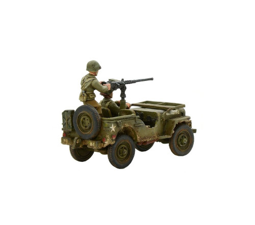 Bolt Action Army Jeep with 50 Cal HMG - 403213002