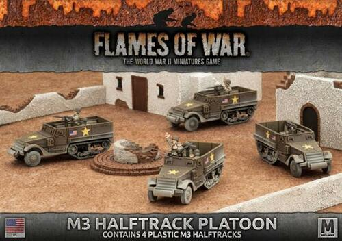 Fighting First M3 Halftrack Transport Platoon