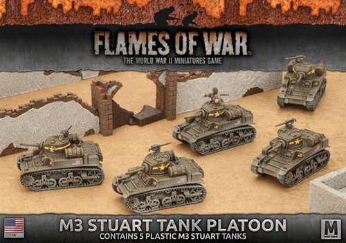 Fighting First M3 Stuart Light Tank Platoon