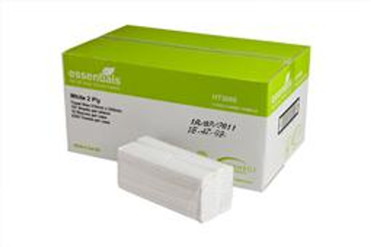 2Ply Luxury white c fold hand towels 2355