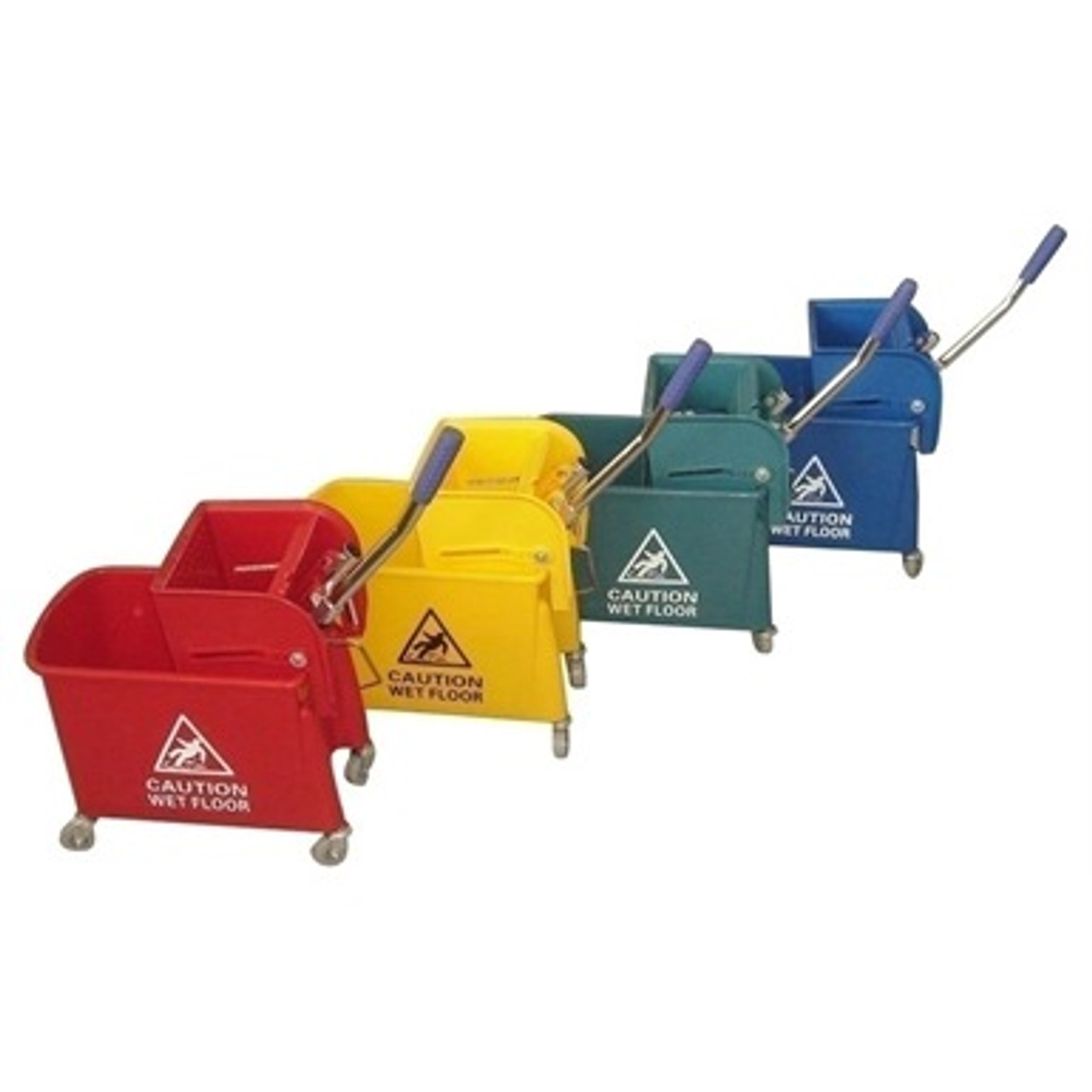 Kentucky Wringer Mop Bucket on Wheels 17 Litre Yellow