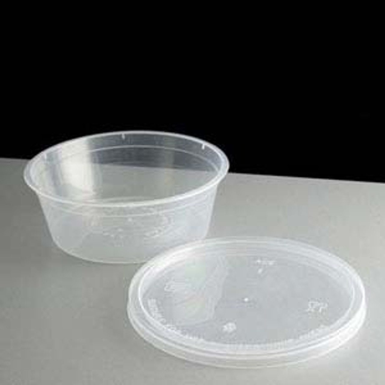 H-Pack 525ml Round Clear Microwaveable Pot with Lid  Pk of 250