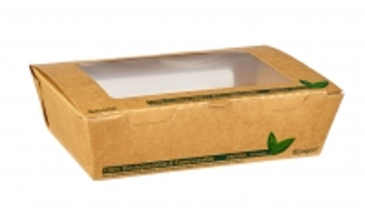 700ML PLA TUCK TOP KRAFT WINDOW FOOD BOXES PK 200