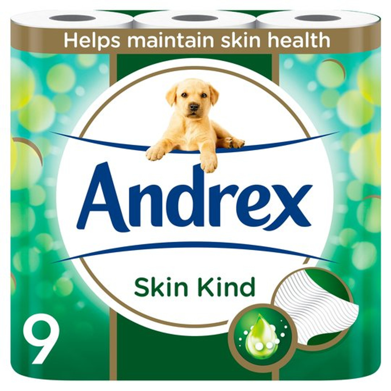 Andrex Toilet Roll - Skin Kind 4ply (C) 4 x 9 roll packs
