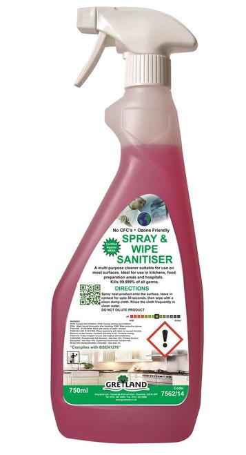 GREYLAND Spray & Wipe Sanitiser (1 x 750ml)