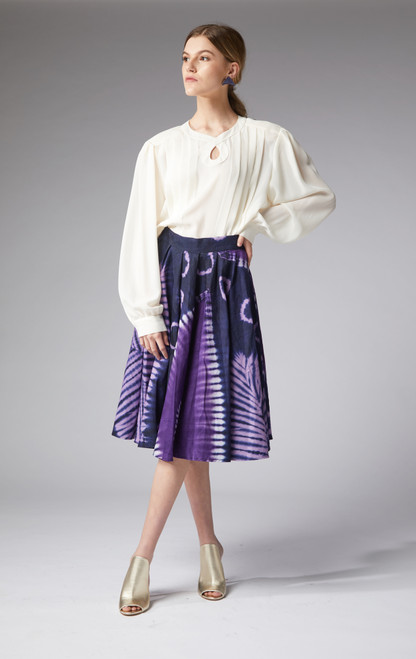 Ana Magenta Midi skirt - muntu - themuntu.com