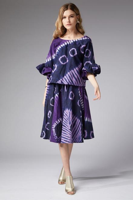 Ana Magenta Top and Skirt Set - muntu - themuntu.com