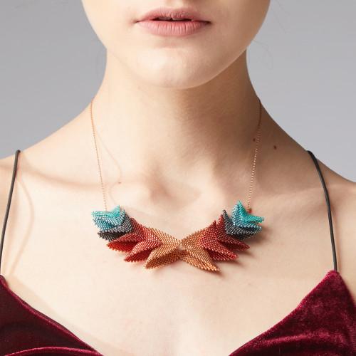 Thousand Elements Necklace - Soft Orange