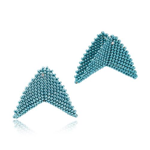 Earrings - Nikita - Cyan - muntu - themuntu.com