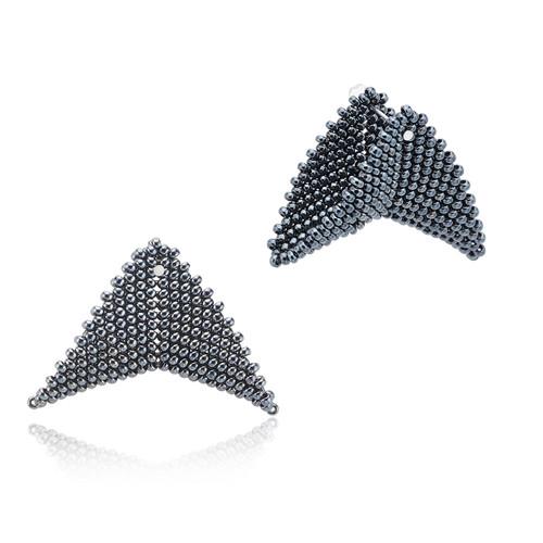 Earrings - Nikita - Charcoal - muntu - themuntu.com