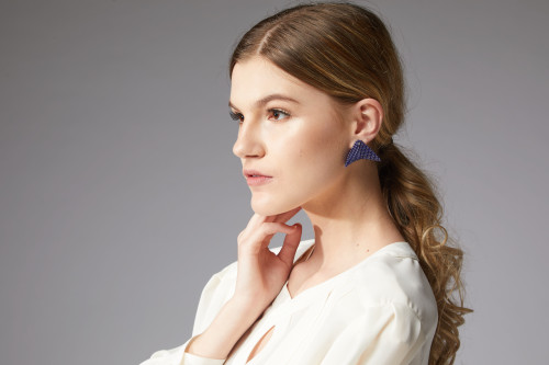 Earrings - Nikita - Blue Magenta - muntu - themuntu.com