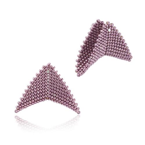 Earrings - Nikita -  Lavender Blush - muntu - themuntu.com
