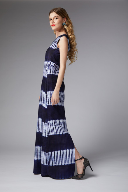 Lavine - One Shoulder Indigo Dress - muntu - themuntu.com