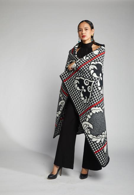 Heritage Blanket Scarf - Dalmatian Heart - muntu - themuntu.com