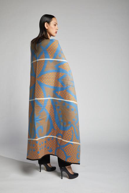 Heritage Blanket Scarf - Azure Spade - muntu - themuntu.com