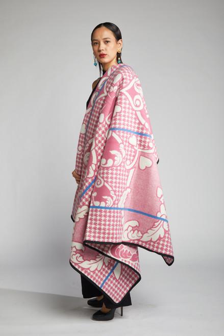 Heritage Blanket Scarf - Cherry Blossom Heart - muntu - themuntu.com