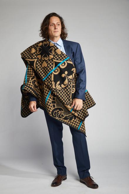 Heritage Blanket Scarf - Coffee Heart - muntu - themuntu.com