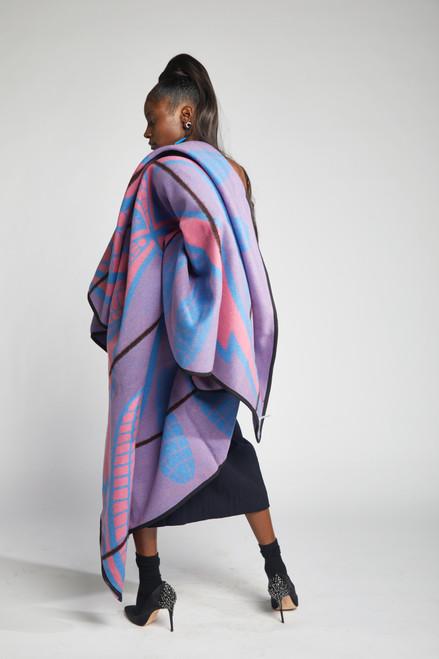 Heritage Blanket Scarf - Fuchsia Poone - muntu - themuntu.com
