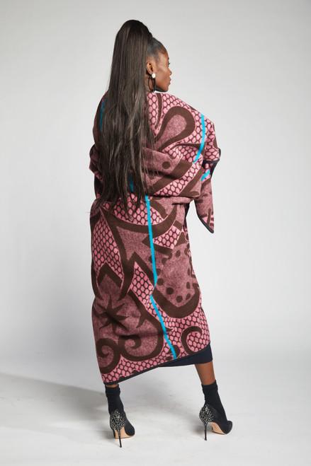 Heritage Blanket Scarf - Rose Brown Spade - muntu - themuntu.com